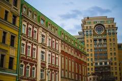 Construção nova em Moscou Fotografia de Stock Royalty Free