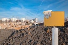 Construção nova na cidade imagens de stock royalty free