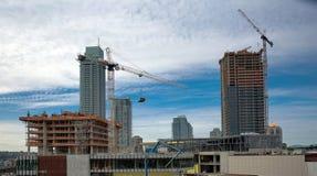 Construção nova na cidade de Burnaby Fotos de Stock
