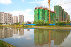 Construção nova quadro de uma casa Fotografia de Stock