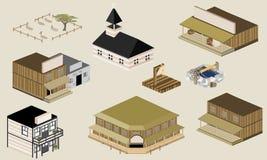 Construção ocidental ilustração stock