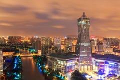 Construção ocidental do marco do quadrado da cultura do lago Hangzhou fotografia de stock
