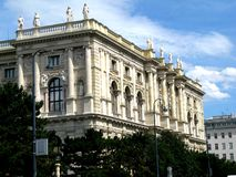 Construção oficial no centro de Viena Fotografia de Stock Royalty Free
