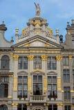 Construção ornamentado de Grand Place em Bruxelas imagem de stock