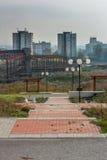 Construção oxidada do metal Foto de Stock Royalty Free