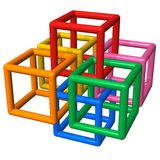 Construção plástica abstrata Imagens de Stock