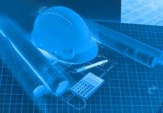 A construção planeia a visão do projeto Imagens de Stock