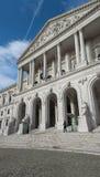 Construção portuguesa do parlamento, Palacio a Dinamarca Asembleia a Dinamarca Republica, Lisboa, Portugal lado Fotografia de Stock