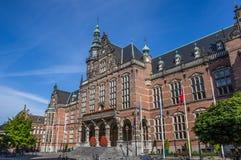 Construção principal da universidade de Groningen Imagem de Stock Royalty Free