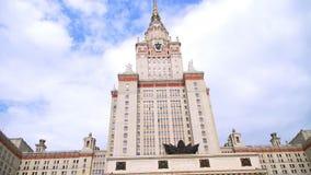 A construção principal da universidade estadual de Lomonosov Moscou vídeos de arquivo