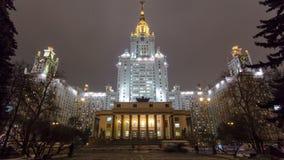A construção principal da universidade estadual de Moscou sobre filme