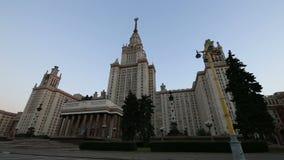A construção principal da universidade estadual em montes do pardal, Rússia de Moscou video estoque