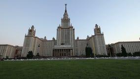 A construção principal da universidade estadual em montes do pardal, Rússia de Moscou vídeos de arquivo