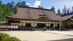 Construção principal do templo de Kongobuji em Koyasan, Japão Imagem de Stock Royalty Free
