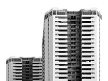 Construção quadrada no capital Imagens de Stock Royalty Free
