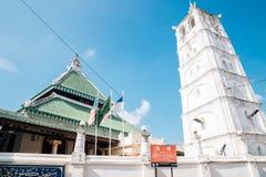 Construção religiosa de Masjid Kampung Kling em Malacca, Malásia foto de stock royalty free