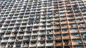 Construção residencial abarrotado em Hong Kong Fotos de Stock Royalty Free