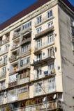 Construção residencial com balcões Imagens de Stock