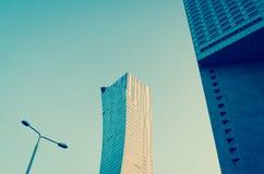Construção residencial do Highrise do luxo de Z?ota 44 em Varsóvia Imagens de Stock Royalty Free