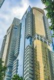 Construção residencial dourada fotos de stock