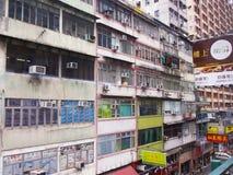 Construção residencial em Hong Kong Foto de Stock Royalty Free