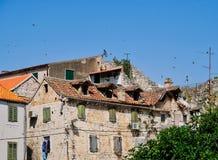 Construção residencial histórica, cidade velha da separação, Croácia Fotografia de Stock Royalty Free