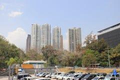 a construção residencial no Hong Kong Fotos de Stock