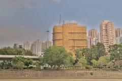 a construção residencial no Hong Kong Foto de Stock