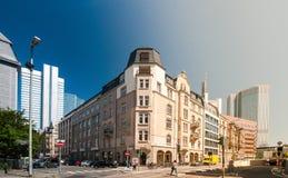 Construção retro de Francoforte fotos de stock royalty free