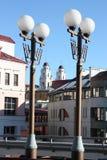 "Construção, rua, igreja, Minsk, ÐºÑ€Ð°Ñ ‹do † Ñ Ð¸Ñ de е ‹Ñ ² иР уРde"", уД  ка do ½ Ñ de а МиРdo † de иÑ,  к do Fotos de Stock Royalty Free"