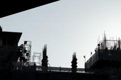 Construção, silhueta, fundo Imagens de Stock