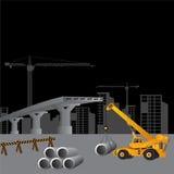 Construção sob o canteiro de obras, Fotografia de Stock