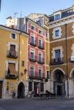 Construção típica das casas na cidade velha da cidade de Cuenc Fotos de Stock Royalty Free
