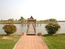 Construção tailandesa do estilo, ubonratchathani, Tailândia fotos de stock royalty free