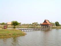 Construção tailandesa do estilo, ubonratchathani, Tailândia foto de stock royalty free