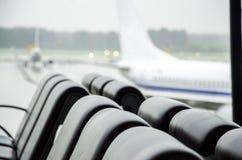 Construção terminal em dias chuvosos foto de stock royalty free