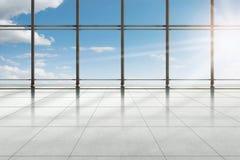 Construção terminal moderna de aeroporto Fotografia de Stock