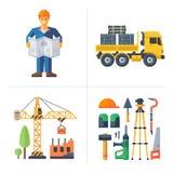 construção Trabalhador que guarda um plano Fotografia de Stock