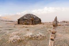 Construção tradicional de Altai Fotos de Stock