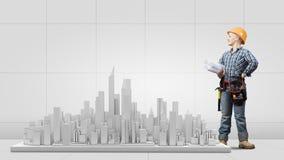 Construção urbana Imagens de Stock Royalty Free