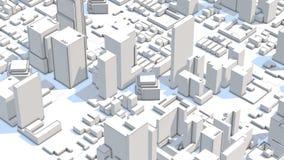 construção urbana abstrata do negócio 4k ilustração do vetor