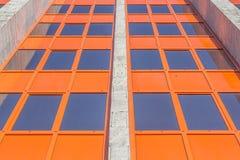 Construção urbana matizada das janelas Foto de Stock Royalty Free