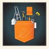 A construção utiliza ferramentas ícones Foto de Stock Royalty Free