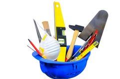 A construção utiliza ferramentas dois Imagens de Stock