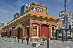 Construção velha clássica situada no cais da alfândega em Wellington CBD Imagem de Stock