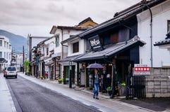 Construção velha da arquitetura de Edo do japonês com telhado de azulejos mim imagens de stock royalty free