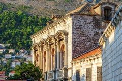 Construção velha da cidade de Dubrovnik fotografia de stock