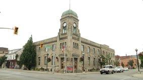 Construção velha da estação de correios de Canadá video estoque