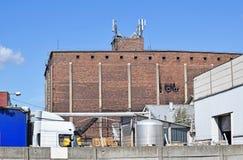 Construção velha da fábrica e do armazém Foto de Stock Royalty Free