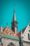 Construção velha da igreja europeia, Hungria Budapest Foto de Stock Royalty Free